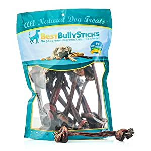bully stick knotted bone 50 pack pet rawhide treat sticks pet supplies. Black Bedroom Furniture Sets. Home Design Ideas