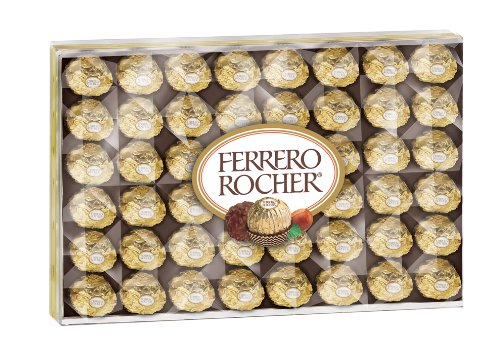 Ferrero Rocher Fine Hazelnut Chocolate, 48 Count