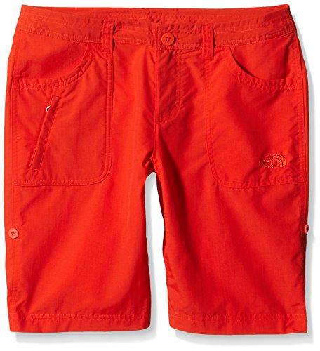 The North Face-Pantaloni corti Sunnyside dicono le donne taglia s, rosso, taglia 10