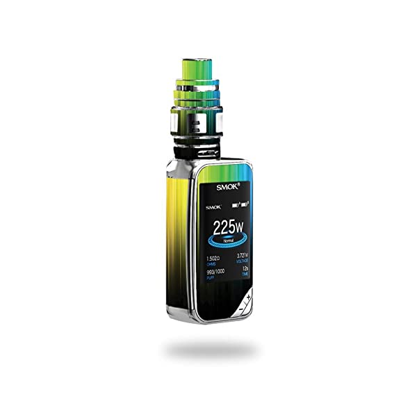 MightySkins Skin Compatible with SMOK X-Priv 225W - Rainbow Streaks | Protective, Durable, and Unique Vinyl Decal wrap Cover | Easy to Apply, Remove, and Change Styles | Made in The USA (Color: Rainbow Streaks, Tamaño: Smok X-Priv)