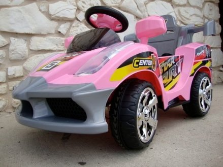 Pink Racer Battery Power Kids Ride On with Remote Control RC Wheels Car Sold exclusively by PARADISE YARDIE