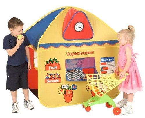POP UP SHOP AND POST OFFICE PLAY TENT - GREAT FUN 2 IN 1 ROLE PLAY HOUSE by Pop It Up