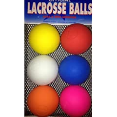 Champion Sports Lacrosse Ball Set - 6 Assorted Color Balls by Champion