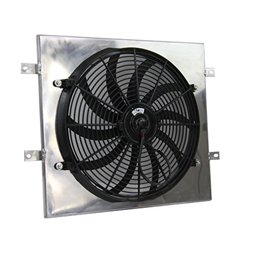 Primecooling Enigne Cooling Fan (16 Inches Dia.)+ Aluminum Shroud for Jeep Wrangler L4/ L6 Engine 1987-06 (Yj Electric Fan compare prices)