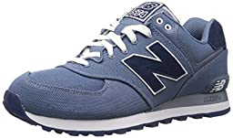 New Balance Men\'s ML574 Pique Polo Collection Running Shoe, Chambray, 9.5 D US