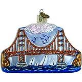 "Old World Christmas Golden Gate Bridge, 3x4"" Glass Ornament"