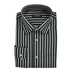 Blanca Men Shirts 1800 Black White C