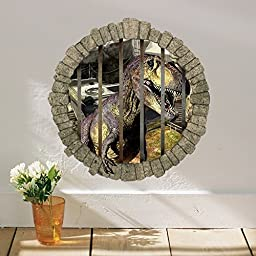 Zooarts® Movie Dinosaurs Wall Decals Sticker for Kids Children Nursery Room (Style A)