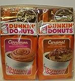 Dunkin' Donuts Bakery Series Caramel Coffee Cake & Cinnamon Coffee Roll Ground Coffee Bundle (11 oz.Bag of Each) (Set of 2 Bags)