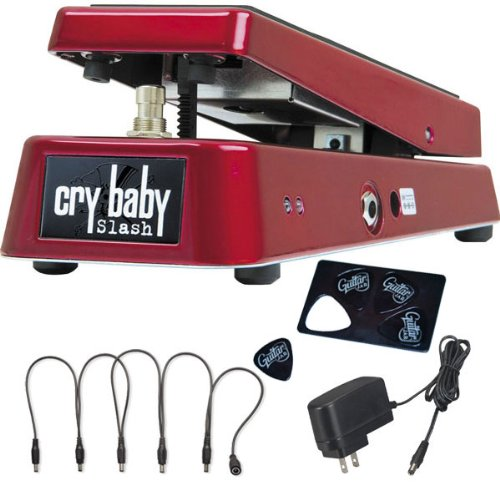 Dunlop Sw95 Cry Baby Slash Effect Guitar Pedal W/ Power Adapter, Snake Cable, & Picks front-212449