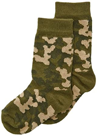 Country Kids Boy's Camouflage Calf Socks, 1-3 Years (Manufacturer Size:3-5.5), Green
