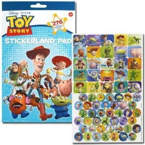 (18 Count) TOY STORY 3 Stickerland Pad - PARTY FAVORS