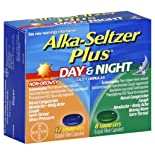 Alka-Seltzer Plus Day & Night Cold Formulas, Non-Drowsy, Liquid Filled Capsules, 20 ct.