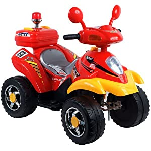 Lil' Rider 360 Battery Operated 4 Wheeler - Red/Yellow