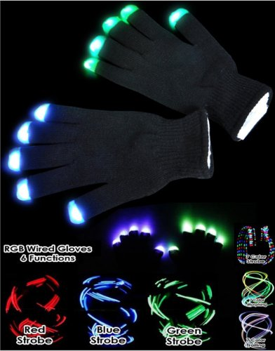 Black Flashing Glove - 1
