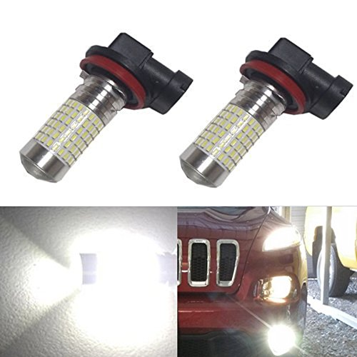JDM ASTAR 1200 Lumens Extremely Bright 144-EX Chipsets H11 LED Bulbs with Projector for DRL or Fog Lights, Xenon White (Honda Civic Fog Lights 2012 compare prices)