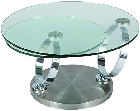 Table basse en verre, L140 x P80 x H40 cm -PEGANE-