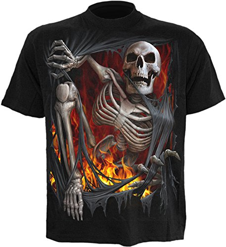 Spiral - Maglietta - Death Re-Ripped, Nero Black L