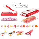 Slings 12 In 1 Premium Super Dicer Vegetables And Fruits Slicer, Chipser, Grater, Cutter, Peeler And Chopper (...