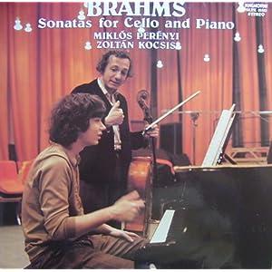 Brahms Sonatas For Cello And Piano Vinyl Lp