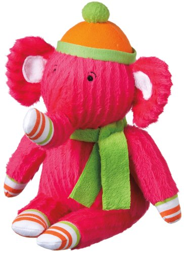 "Monkeez ""Stella"" Mini Pink Elephant Plush - 1"