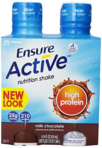 Ensure Active High Protein Nutrition Shake, Chocolate, 14-Ounce, 4 Count, (Pack Of 3)