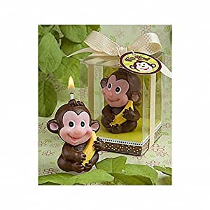 baby shower adorable monkey candle favor baby