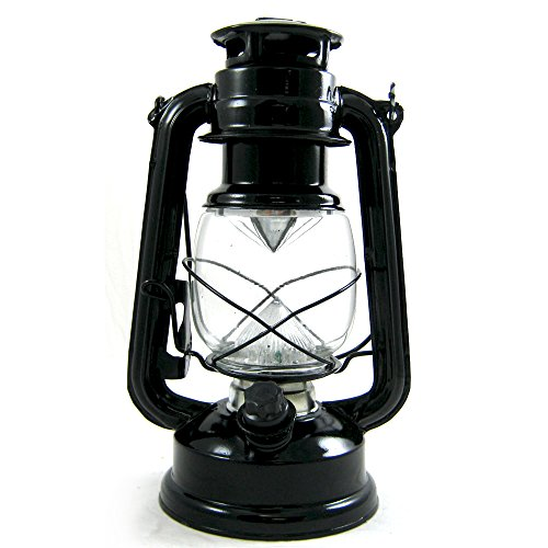 Emergency Hurricane Lantern Dimmer Switch Camping Outdoor Lamp Home 14 Led Black