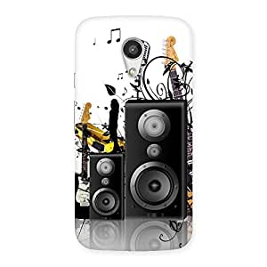 Delighted Music Comp Multicolor Back Case Cover for Moto G 2nd Gen