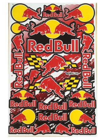1 Sheet Sticker Red Bull Racing X Fighters Helmet Motocross Bike ATV Sticker Decal #11 (Monster Energy Dirt Bike compare prices)