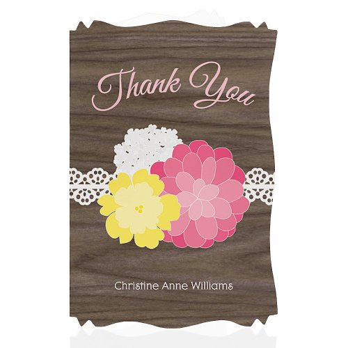 Personalized Thank You Cards Baby Shower