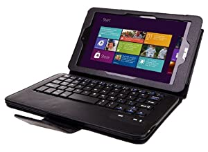 IVSO KeyBook Bluetooth Keyboard Case for ASUS VivoTab Note 8 M80TA Windows 8.1 Tablet - with Removable Keyboard (Black)