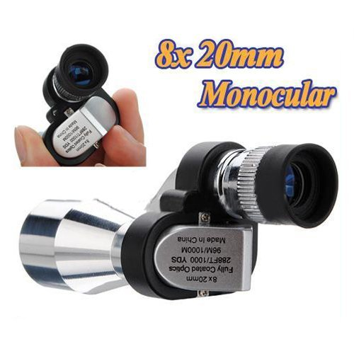 Water & Wood Mini 8 X 20Mm Portable Pocket Adjustable Monocular Telescope For Outdoor Sports Hiking Bird Watching