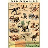 (24x36) Dinosaurs (Chart) found in Jurassic Park Art Poster Print