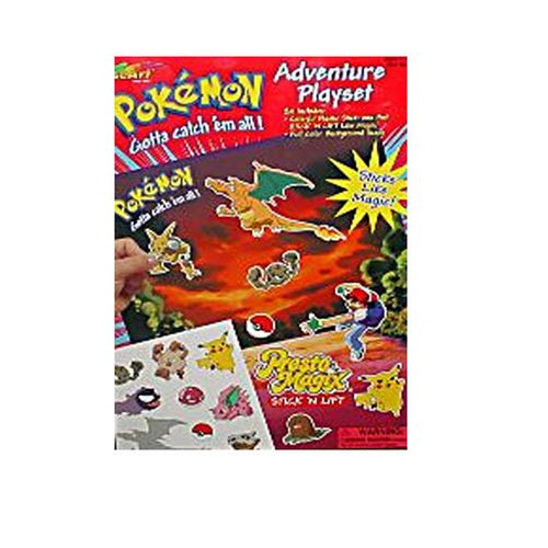 Pokemon Stick-n-lift Adventure Playset with Bonus Guide Book