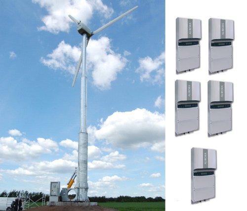 50 Kw Wind Turbine With 18M Hydraulic Tower