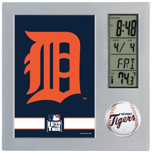 MLB Detroit Tigers Digital Desk Clock