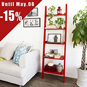Cheap  SoBuy Modern WoodLladder Shelf