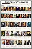 Grande affiche plastifiée Great Composers POSTER les Grands compositeurs dimensions approximativement 36x24 inches (91.5x61cm)