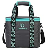 Wawoo Insulated Specialized PTP Insulated Water Proof Lunch Box Bag Cooler Tote Travel Camping Picnic Bag Breast Milk Storage Carring Shoulder Bag Lunch Bag Large Capacity 12L 291725cm Dark Grey