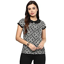 STYLEBAY Women Black Crepe Top (CST001, Large)
