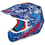 FLY F2 CARBON HELMET BLUE/WHITE XS 73-4013XS