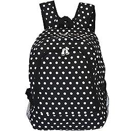 World Traveler Multipurpose Backpack 16-Inch, Black White Dot, One Size