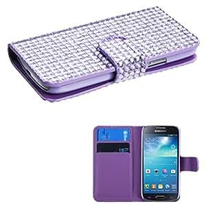 MyBat Samsung Galaxy S4 MyJacket Wallet with Card Slot - Retail Packaging - Purple