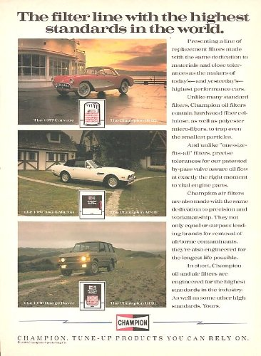 1988-champion-oil-air-filters-and-carb-choke-cleaner-color-ads-lot-of-2-usa-excellent-