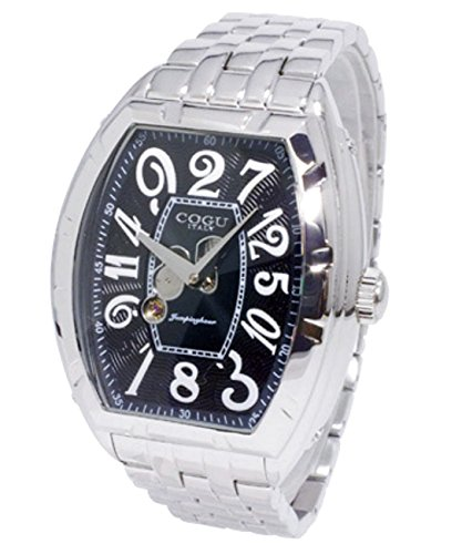 [コグ] COGU 腕時計 自動巻き ジャンピングアワー バックスケルトン JH7M-BK メンズ