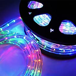 ARKSEN© LED Crystal Clear 50FT PVC Tubing, (RGB)