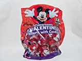 Disney Mickey and Minnie Mouse Classroom Valentine Hearts with Candy ~ 18 Pack
