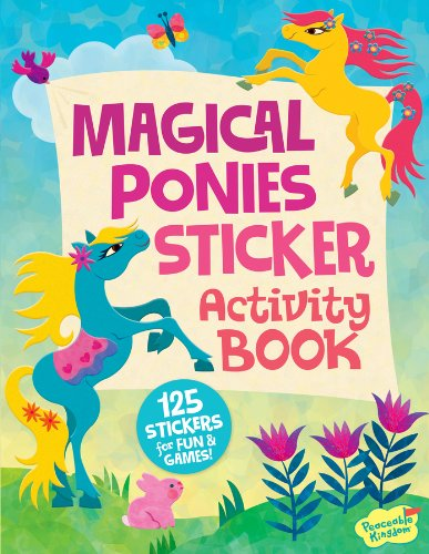 Peaceable Kingdom / Magical Ponies Sticker Activity Book front-632569