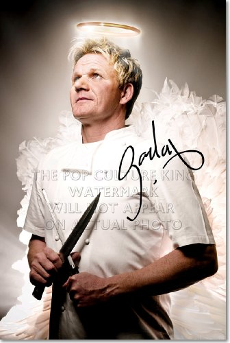 GORDON RAMSAY SIGNED PHOTO - HELL'S KITCHEN NIGHTMARES MASTERCHEF AUTOGRAPH POSTER PRINT 12x8 A4 GLOSSY GIFT